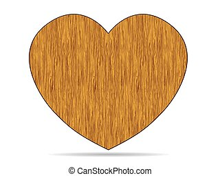 a heart of an old wood vector on a white background
