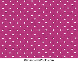 hearts polka dot pattern with pink texture