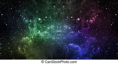 Space - Beautiful cosmos with a lot of stars. Elements of...