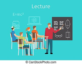 Education concept learning and lectures icon - Education...