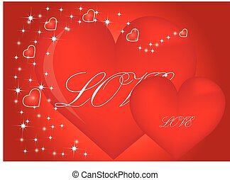 Valentine Hearts Background. Valentines Red Abstract Wallpaper. Backdrop Collage. St.Valentine's Day