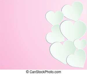 Vector - Valentine Day Heart on pink Background