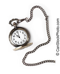 Antique Pocket Watch - Antique pocket watch on a chain with...