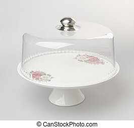 cake stand or dessert stand on a background. - cake stand or...