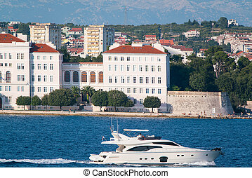 view from the sea to the old city Zadar - view from the sea...