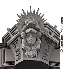 Element facade old houses in Riga - Carved facade element...