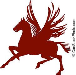 pegasus, flying horse