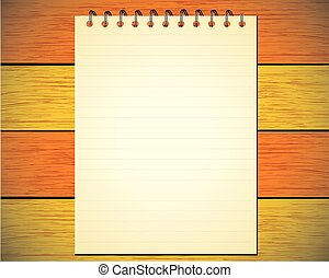Note-pad background of white paper