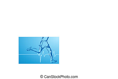 electrocardiogram and runner