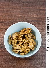 walnuts in bowl snack