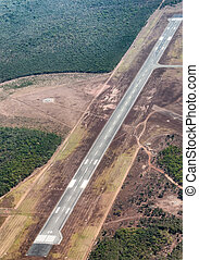 Aerial view of airstrip.