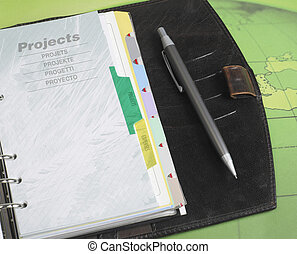 Personal organiser and pen