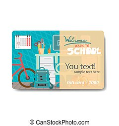 Children things and stationery Sale discount gift card...