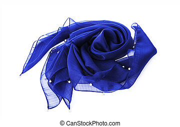 Blue neckerchief on background