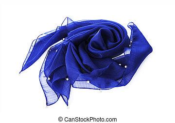 Blue neckerchief on background