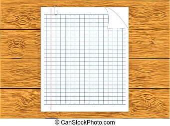 Note Paper isolated on wood