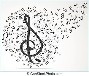 Vector abstract musical background