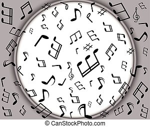 Background with music notes border