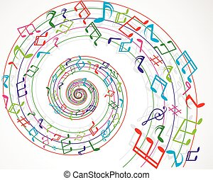 Musical notes background colorful
