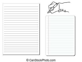 notepad . Vector illustration