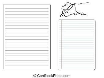 notepad . Vector illustration