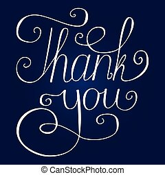 Thank you hand lettering - Hand lettering thank you vector