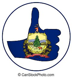 Thumbs Up Vermont - Vermont Flag hand giving the thumbs up...