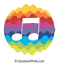 Music Rainbow Color Icon for Mobile Applications and Web Vector