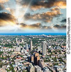 超高層ビル, オーストラリア, 航空写真, シドニー, 光景
