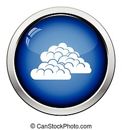 Cloudy icon Glossy button design Vector illustration