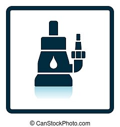 Submersible water pump icon Shadow reflection design Vector...