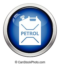 Fuel canister icon. Glossy button design. Vector...