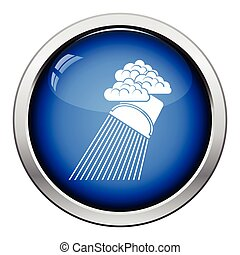 Rainfall like from bucket icon Glossy button design Vector...