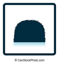 Hay stack icon Shadow reflection design Vector illustration...