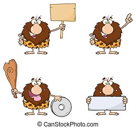 Male Caveman Collection - 8 - Funny Male Caveman Cartoon...