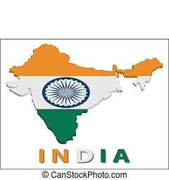 India territory with flag texture.