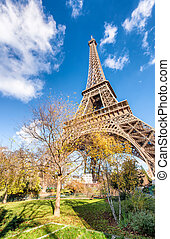 Paris, magnificence of Eiffel Tower