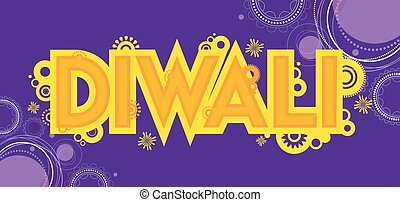 Diwali colourful card decorative background Vector...