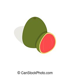 Guava fruit icon, isometric 3d style - Guava fruit icon in...