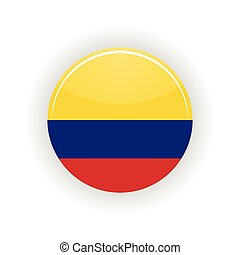 Colombia icon circle - icon circle isolated on white...