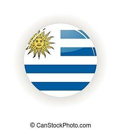 Uruguay icon circle isolated on white background Montevideo...