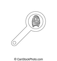 Magnifying glass with fingerprint icon