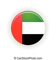 United Arab Emirates icon circle isolated on white...