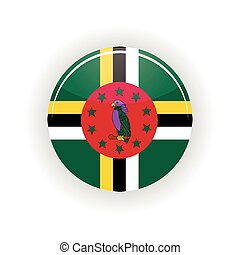 Dominica icon circle isolated on white background Roseau...