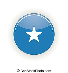 Somalia icon circle isolated on white background Mogadishu...