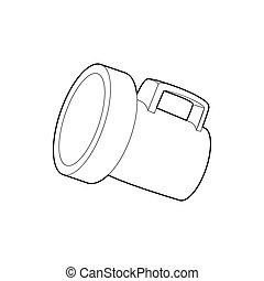 Lantern icon, outline style - Lantern icon in outline style...