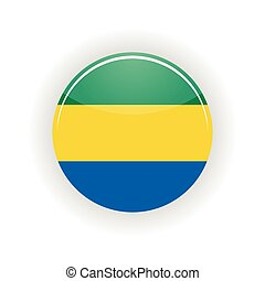 Gabon icon circle isolated on white background Libreville...