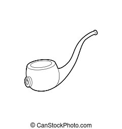Vape pipe icon, outline style - Vape pipe icon in outline...