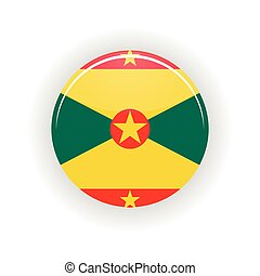 Grenada icon circle isolated on white background Saint...