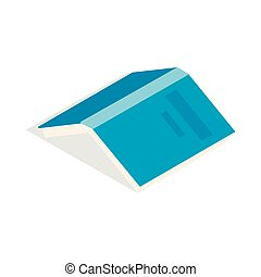 Open book with blue cover icon, isometric 3d style
